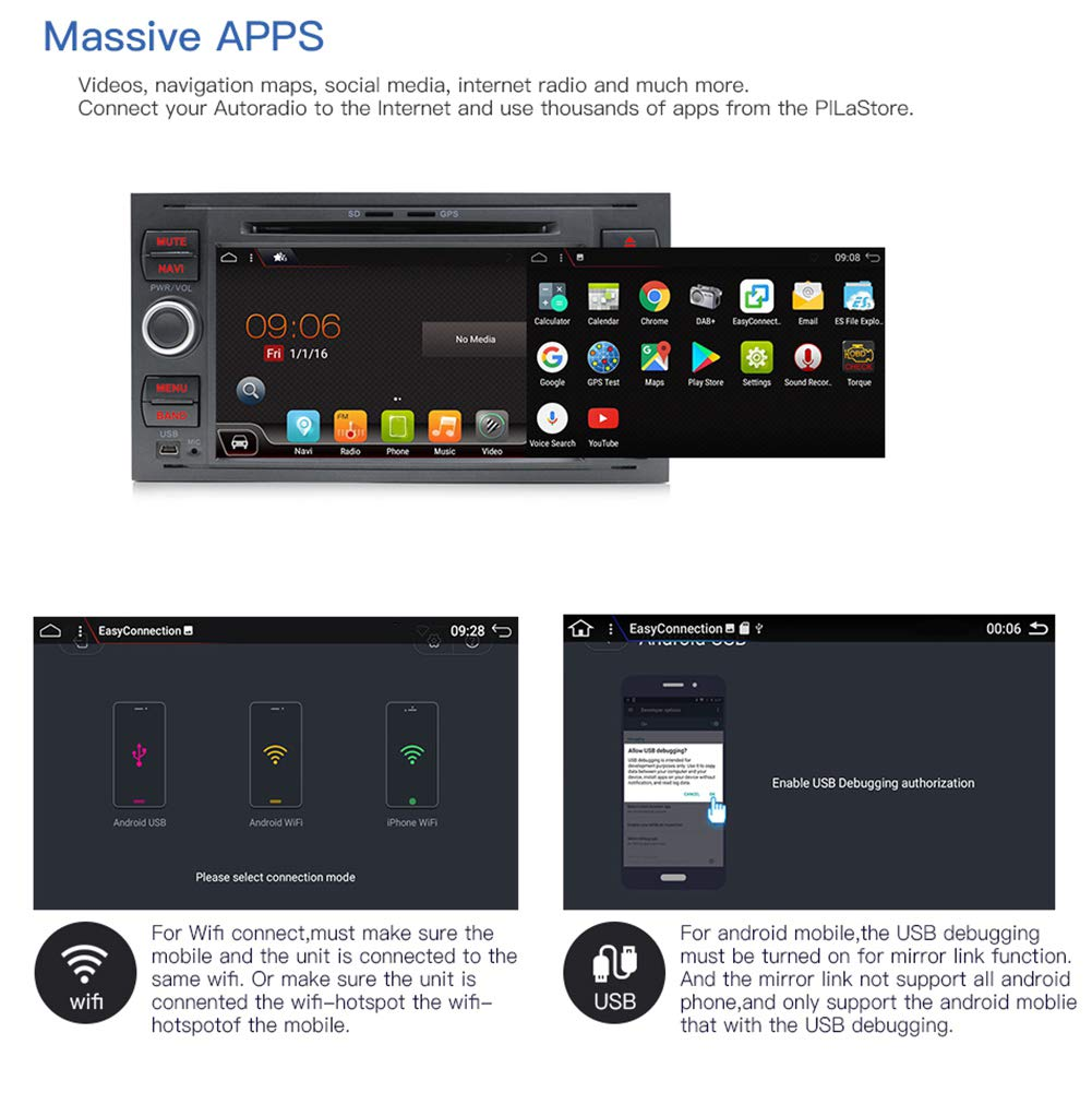 Android-71-Autoradio-fr-FORD-FOCUS-YUNTX-Autoradio-2-Din-Fahrzeug-In-Dash-Auto-Audio-mit-GPS-Navigationssystem-7-Zoll-Multi-Touch-Bildschirm
