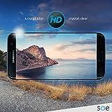 Galaxy S7 edge Schutzfolie [2 Stück] Panzerfolie volle Abdeckung [HD-Klar] einfache blasenfreie Aufbringung [Displayschutzfolie transparent] KEIN Glas Schutzglas sondern Samsung S7edge Folie Test