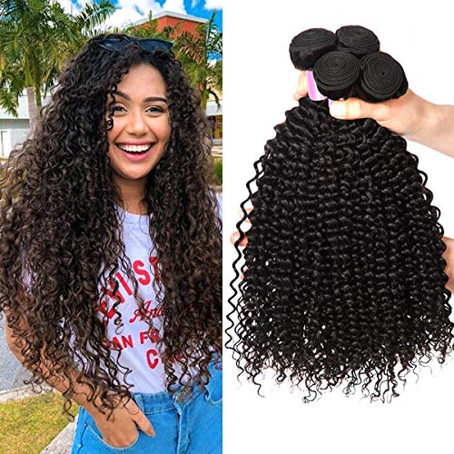 8A Brazilian Hair Kinky Curly Hair 100% Remy Curly Weave Human Hair Bundles Virgin Brasilianische Haare 18 20 22 Zoll Super Qualität Menschliche Haare Brasilianisches Echthaar Tressen Curly Total 300g