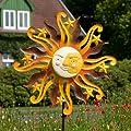 Windspiel Sunface AUTUMN Metallwindrad Sonne Garten Deko von colourliving - Du und dein Garten