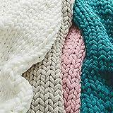 Decke Handgefertigt Riese Klobig Sticken Werfen Sofa Decke 130 * 160CM Handgewebt Sperrig Decke Chunky Acryl Gestrickte Zuhause Dekor Geschenk
