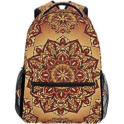 TIZORAX Mochila medieval hippie bohemio psicodélica mochila escolar bolsa de libros senderismo viaje mochila