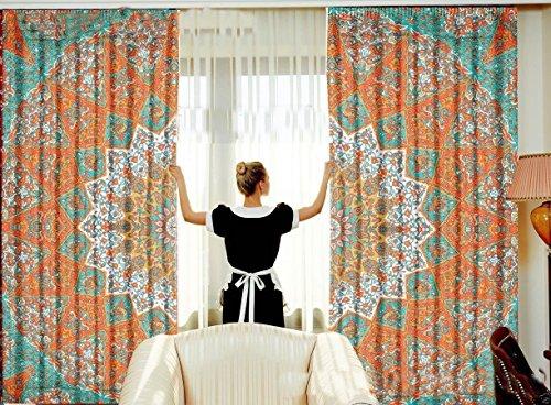 Sophia Art Star Mandala Schlafzimmer Gardinen indischen Tuch Balkon-Set ROOM DECOR Vorhang Boho...