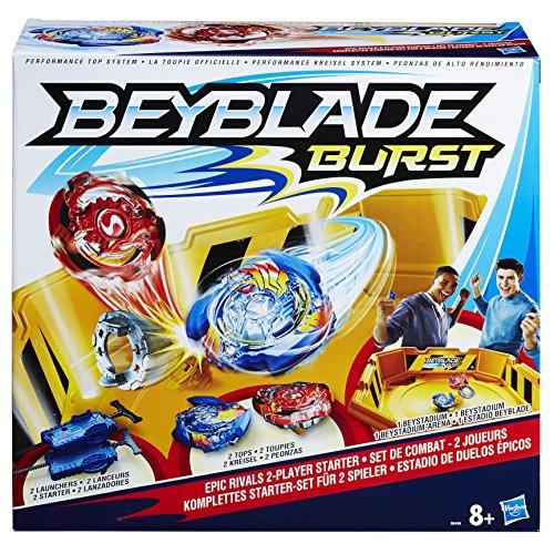 Beyblade Burst - Set de Combat pour 2 Joueurs (2 toupies + 2 lanceurs + 1 arène)