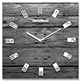 Dice Numbered Grey Wall Clock