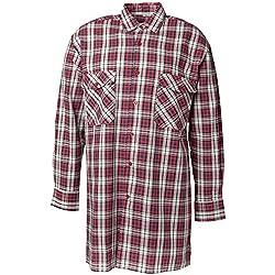 Juego de sábanas de franela-camisa 2001 rojo Planam, Rojo