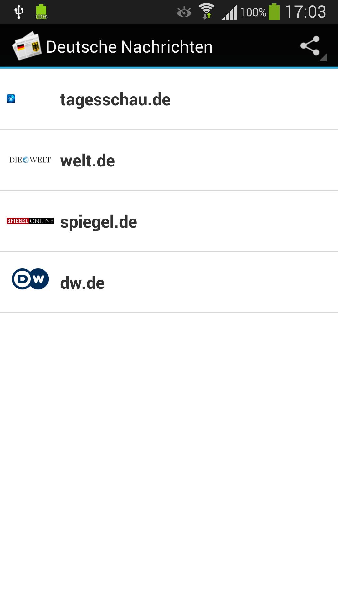 Deutsche narichten Screenshot