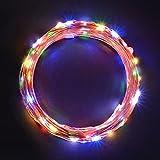 Sunix Guirlande Lumineuse LED Etanche avec110 Micro LED étoilées 11m décoration maison, Jeu de Lumière, Décoration Intérieure en Cuivre, Pour Noël, Mariages (Multi-colore)