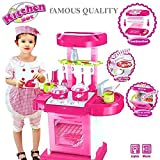 Kids Demand Kitchen Set Kids Luxury Battery Operated Kitchen Playset Super Toy For Girls, Multi Color