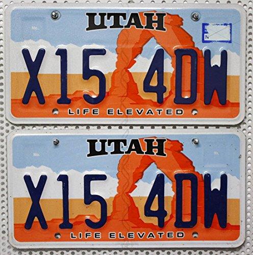 US Nummernschilder UTAH Kennzeichen PAAR # LICENSE PLATES PAIR Autoschilder USA