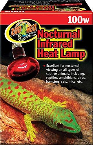 Zoo Med RS-100E Nocturnal Infrared Heat Lamp 100W, Infrarotstrahler, Wärmequelle und Beleuchtung für Terrarien