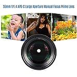 Andoer 7artisans 55mm f/1.4 APS-C Large Aperture Prime Lens Manual Focus for Fujifilm X-A1/X-A10/X-A2/X-A3/X-M1/X-M2/X-T1...