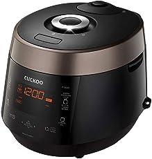 CUCKOO CRP-P1009S Dampfdruck Reiskocher, Schnellkochtopf und Schongarer aus Edelstahl mit programmierbaren Kochfunktionen, Made in Korea