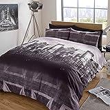 Dreamscene–Gorgeous Skyline impresión funda de edredón juego de cama, color morado, Single