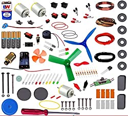 Super Kit 100 includes following items: 9v Battery - 1 9v Battery connector - 1 ON-OFF switch (red) - 2 ON-OFF switch (Black) - 2 ON-OFF switch (Medium) - 1 ON-OFF switch (Big) - 1 Slide switch - 2 Push to ON switch - 1 Press button (switch) - 1 Big ...
