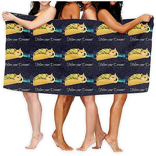 Casu Beach Towels Doge Dans Une Serviette De Plage En Microfibre Taco Pour Travel Quick Dry Serviette De Plage De Voyage Impressions De Serviette