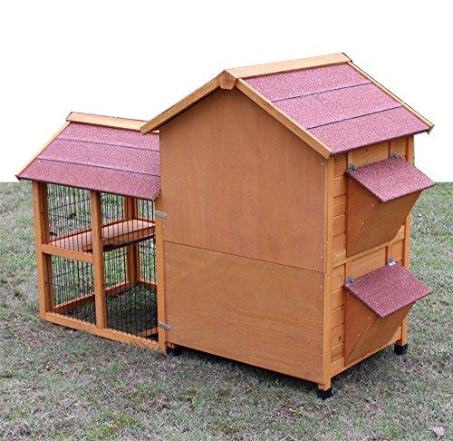 """Kaninchenstall Kleintierhaus Hasenstall Kleintierkäfig Nr. 05 """"De Luxe"""" mit Seitenflügeln - 3"""