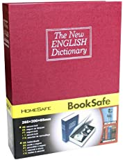 Styleys Metal Home Locker Jewelry Dictionary Book Safe Box, 18 X 12 X 5.5 cm (Red)