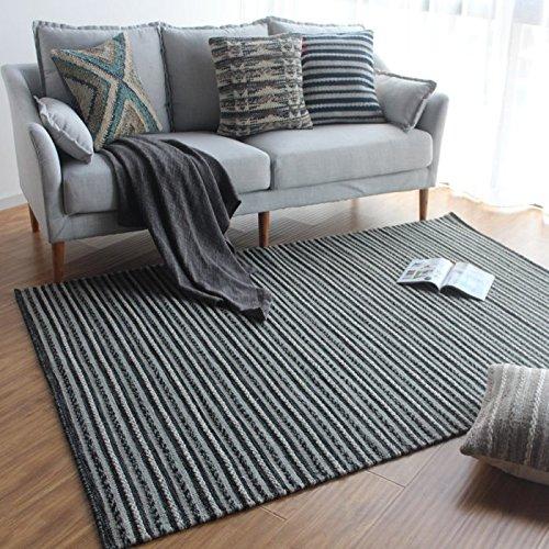 GRENSS Im barocken Stil rein handgemachte Teppiche Wollteppiche anmutige Gestreifte Matten für...