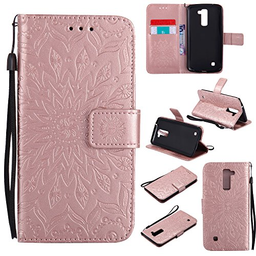 for-lg-k10-case-rose-goldcozy-hut-wallet-case-magnetic-flip-book-style-cover-case-high-quality-class