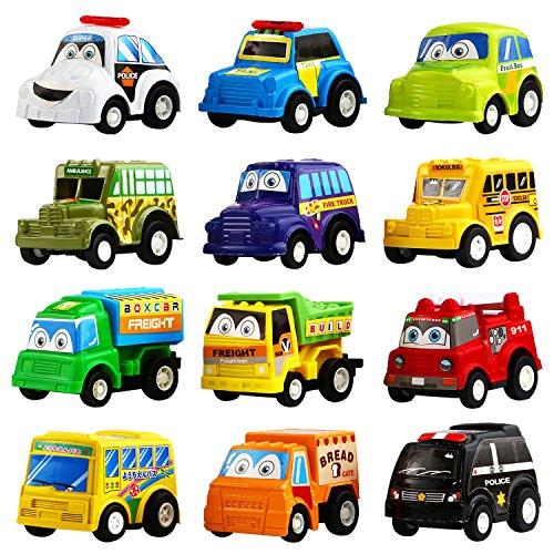 �ck Ausgewähltes Mini Plastik Fahrzeug Set, YeoNational Spielzeuge Aufzieh LKW und Auto Spielzeuge für Jungen Kinder Kind Geschenke, Druckgussautors Spielzeug Spielset (Spielzeug-auto-sets)