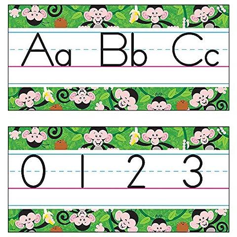 ARGUS Monkey Mischief Jumbo Alphabet Lines Zaner-Bloser Manuscript Bulletin Board