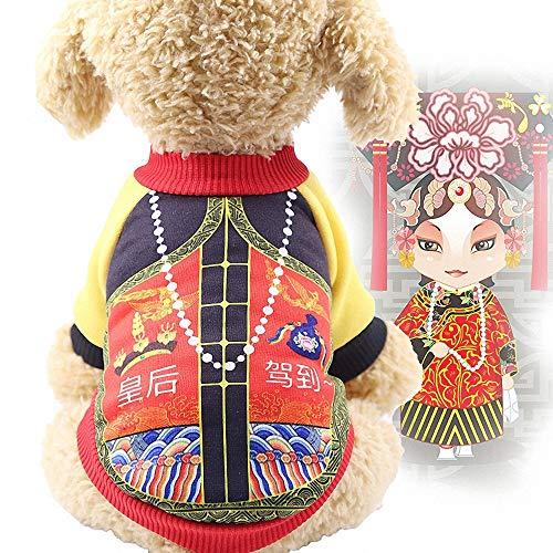 Hunde Kostüm Queen Katze & - FZ FUTURE Hund chinesische Prinzessin Sweater Stil Lustiges Haustier Kostüm Halloween Haustier Mantel Hunde kostümiert Nettes Cosplay Herbst und Winter warm halten,Queen,M