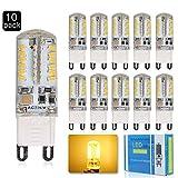 ELINKUME 10 Stück G9 3W LED Lampe 300 Lumen 3000K Warmweiß 360° AC200~240V Nicht Dimmbar, 1 Jahre Garantie