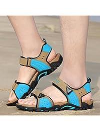 Xing Lin Sandales Pour Hommes Nouvelles Sandales Open-Toe Élégant Garçon Sandales Chaussures De Plage Sandales À Semelle Épaisse De L'Été 36 L'Or Noir OjAHz