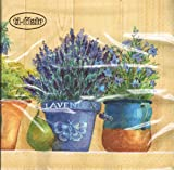 ti-flair - Servietten - Lavender in Flowerpots - Lavendel / Blumentöpfe / Mediterran