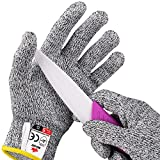 NoCry Cut Resistant Gloves for Kids - High Performance Level 5 Protection, Food Grade (Regular)