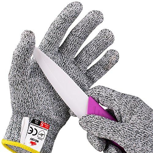 NoCry schnittsichere Handschuhe mit Griffnoppen für Kinder – Leistungsfähiger Level 5 Schutz, lebensmittelecht.