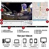 TOGUARD Dashcam GPS WiFi Auto Kamera Full HD 1080P, Fahrzeug Kamera 170 ° Weitwinkel, 2.45 Zoll Bildschirm - Dashcam mit integriertem GPS-Modul, WLAN, Loop-Aufnahme, G-Sensor, Bewegungserkenn -