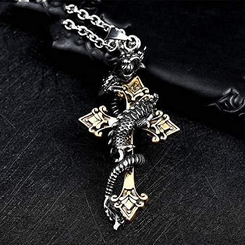 Stahl Soldat Tropfen Kreuz Kreuz Drachen Anhänger Kandless Stahl 3d Männer Schmuck