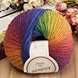 Wool Yarn Hand Knitting Crochet Colorful Soft Cashmere 1 Ball 50g (01)