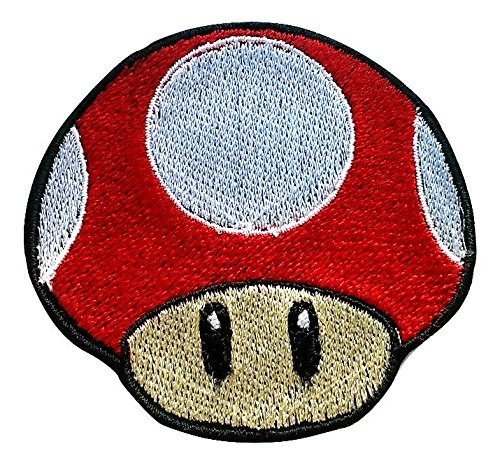 Red Mushroom patch Embroidered Iron on Badge Aufnäher -