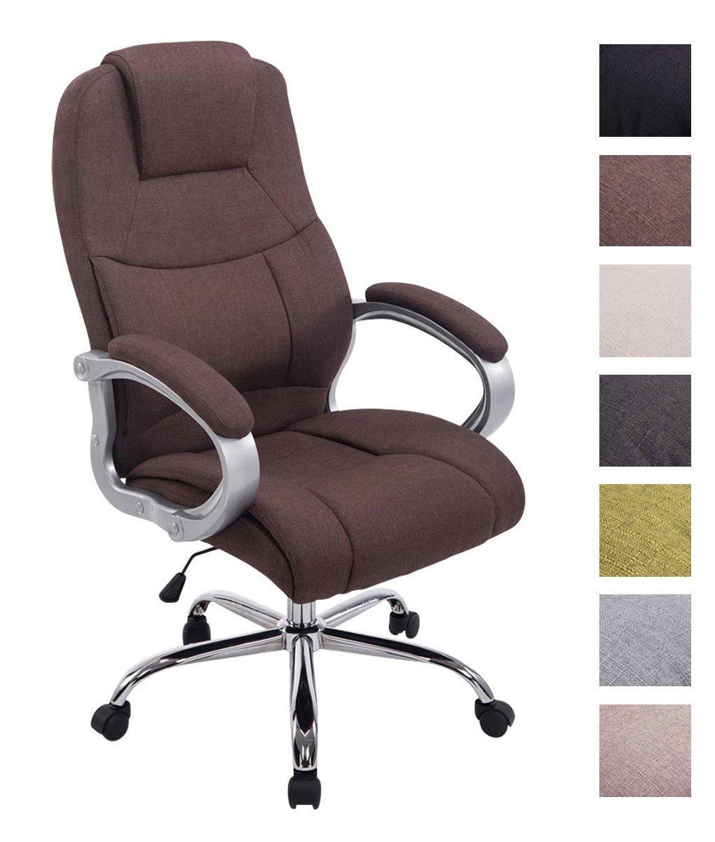 CLP XXL Apoll–Silla de oficina (tela, capacidad de carga de hasta 210kg, giratoria con altura regulable, silla de directivo con revestimiento de alta calidad y en varios colores