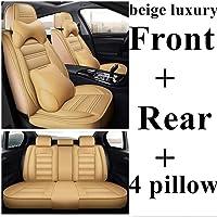 Goodtimera 9-teiliges Set Autositzbezug Vorder vollst/ändiger Sitzbezug und R/ücksitzbezug Universal Fit Autositzschutz