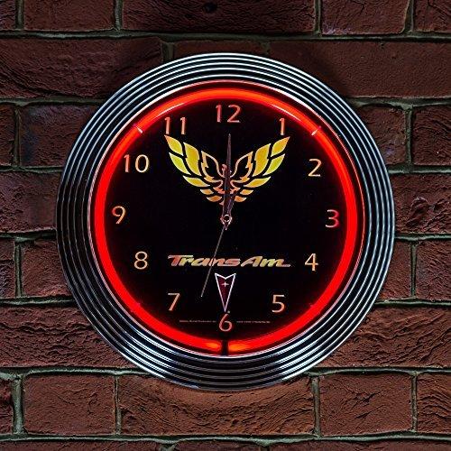 trans-am-neon-clock-240v-3-prong-uk-plug-by-pontiac