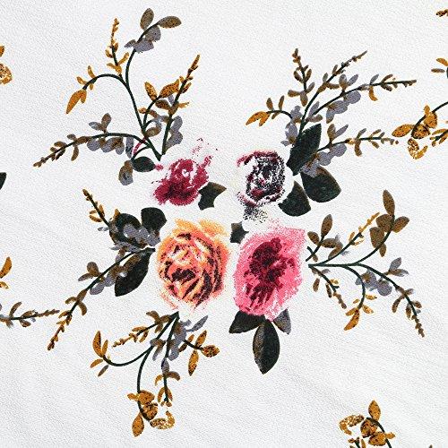 Walant Damen Lang Blumen Röcke Schnürung Elegant Boho Chiffon unregelmäßigen vorne offen Slits Hoher Röcke Maxi Strand Röcke Weiß