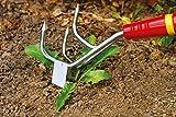 WOLF Garten 71AIA002650 LB-M Coltivatore Sarchiatore, Rosso/Argento, 12.5x18.100000000000001x28.1 cm