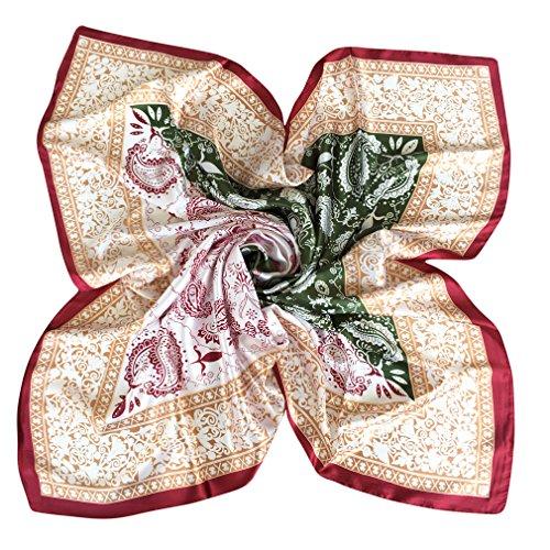 DAMILY Damen Frauen Mode Paisley Bandana Schal Große -