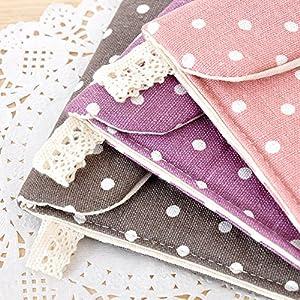 Distinct® 2pcs Women Sanitary Towel Napkin Pad Dainty Purse Holder Bag Random Color