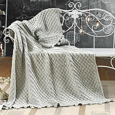 HDWN Ispessimento del lavoro a maglia coperta di lana Nordic contratta mezzogiorno geometrico divano copertina coperta bambini coperta , 150*200cm