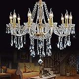 HYW Innenbeleuchtung Chandeliers Chandelier Authentic Alle Crystal Chandeliers Beleuchtung Chandeliers 85 60Cm Beleuchtung Haushaltsbeleuchtung,10 Lichter / 85 * 60Cm