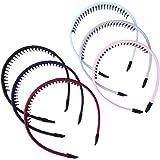 Frcolor 6 stks Tanden Haar Haarband Hoofdband met Tanden Hoofddeksels Accessoire voor Meisjes Vrouwen