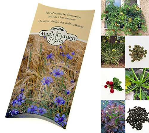 Samen Set: 'Balkon-Gemüse', 7 Gemüsesorten, die sich gut in Töpfen auf kleiner Fläche anbauen lassen