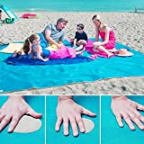 Portatile campeggio coperta da picnic Mat Outdoor impermeabile Sandproof Beach Mat extra large 200 x 150 cm. - Ajudy - amazon.it