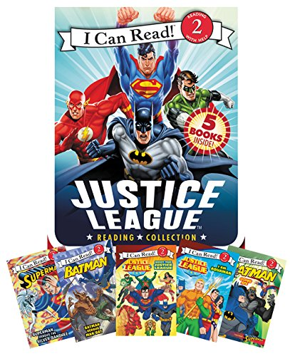 Justice League Reading Collection: 5 I Can Read Books Inside! (I Can Read!, Book 2)