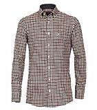 Casa Moda - Comfort Fit - Herren Flanell Freizeit Hemd in Braun oder rot kariert (472859600), Farbe:Braun (200), Größe:3XL